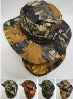 Boonie Hat with Cloth Flap [Hardwood Camo]